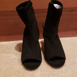 Women's High Heel Open Toe and Heel Bootie